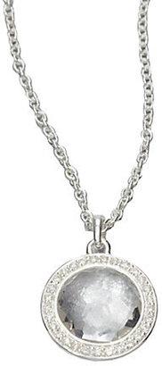 Ippolita Clear Quartz & Diamond Pendant Necklace
