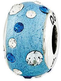 Prerogatives Sterling Dark Blue Molded Swarovski Crystal Bead $39 thestylecure.com