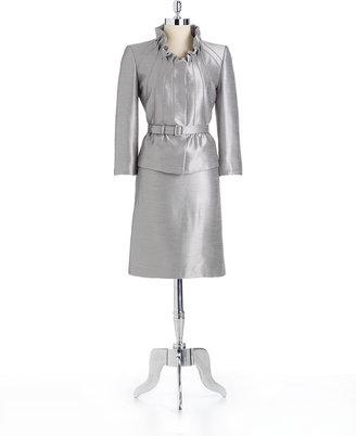 Tahari ARTHUR S. LEVINE Ruffled Skirt Suit