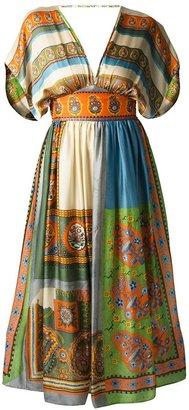 Tsumori Chisato silk paisley gown