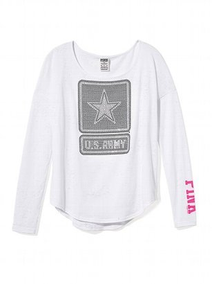 Victoria's Secret PINK Bling Long-sleeve Drapey Tee