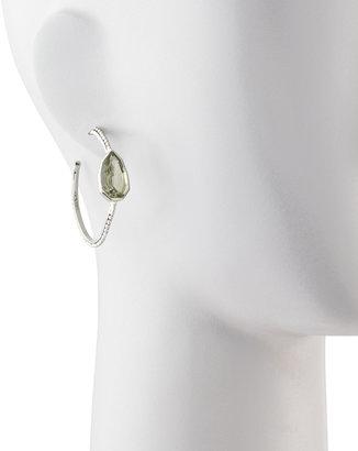 Stephen Dweck Cathedral Small Hoop Earrings, Green Amethyst