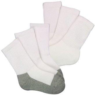 Stride Rite 3-Pack Comfort Seam Cushion Crew - White/Gray-Wht/Gray-2-4 Years