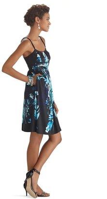 White House Black Market Sleeveless Floral Fit & Flare Dress