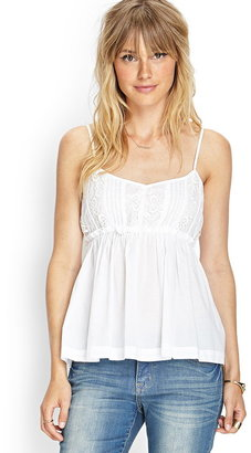 Forever 21 Contemporary Lace Babydoll Cami