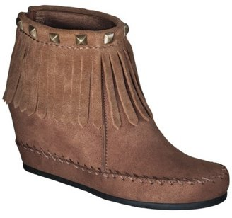 Mossimo Women's Karen Moccasin Wedge Boot - Cognac