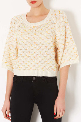 Topshop **Sid Top Stitch Jumper by Navy