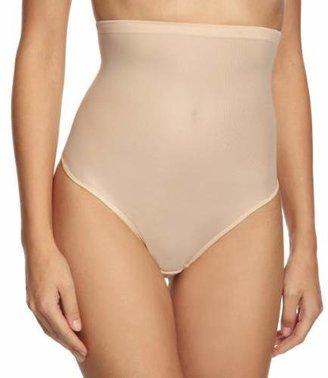 Magic Body Fashion Magic Bodyfashion Women's Hi-Waist Thong Control Knickers,10 (Size:M)