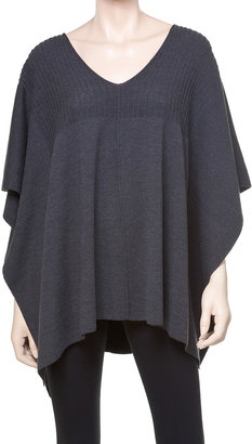 Max Studio Stretch Crepe Knitted Poncho