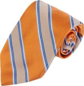 Barneys New York Checkered Stripe Tie
