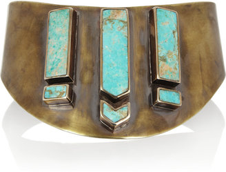 Pamela Love Gold-tone and turquoise choker