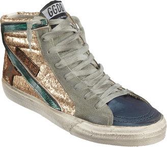 Golden Goose Glittered Slide Sneaker