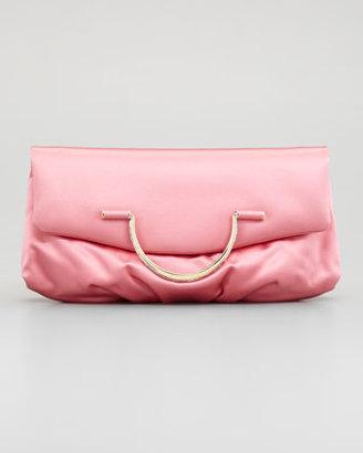 Nina Ricci Satin Bijou Pouchette Clutch Bag, Rose Coral
