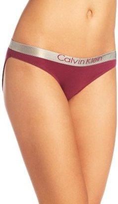Calvin Klein Womens Metallic Chrome Cotton Bikini Panty