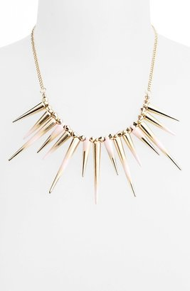 Topshop Dip Dye Spike Collar Necklace