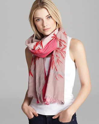 Leigh & Luca NY Ombre Leaves Scarf