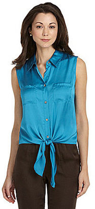 Vince Camuto Tie-Front Blouse