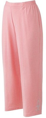 Cathy daniels embellished pull-on capris