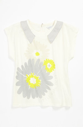 Little Marc Jacobs Floral Print Top (Little Girls) Off White 4