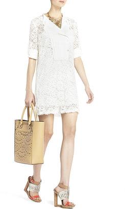BCBGMAXAZRIA Lunah Lace Tunic with Contrast Bib