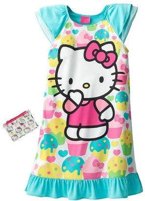 Hello Kitty cupcake nightgown - girls
