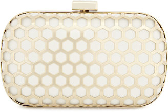 Reiss Beebee CUTWORK METAL CLUTCH BAG