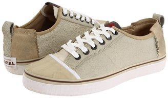Sorel Sentry Sneaker Leather (White Swan/Chili Pepper) - Footwear