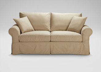 Ethan Allen Cheshire Slipcovered Roll-Arm Sofa