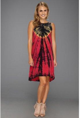 C&C California Bemberg Hi-Low Dress (Barberry) - Apparel