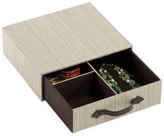 Container Store Parker 3-Section Drawer Latte
