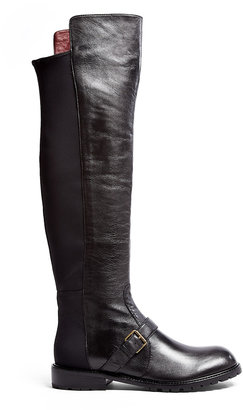 Marc by Marc Jacobs Contrast Flat Thigh High Boots