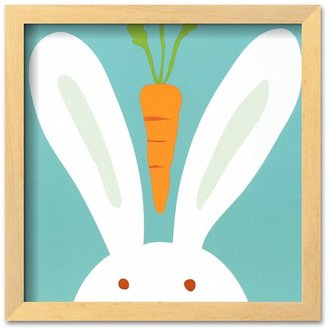 "Art.com Peek-a-Boo I, Rabbit"" Framed Art Print by Yuko Lau"