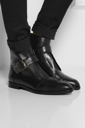 Alexander Wang Monk-strap leather ankle boots
