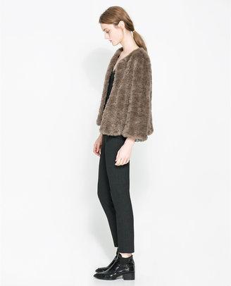 Zara Short Furry Jacket