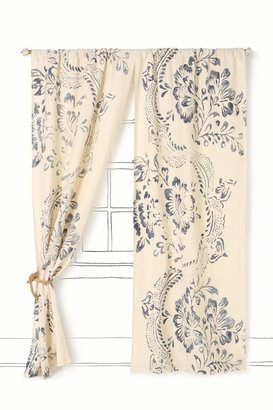 Anthropologie Midnight Courtyard Curtain