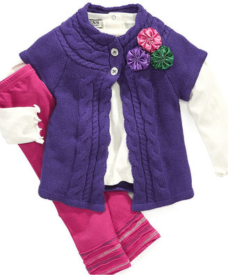 GUESS Baby Set, Baby Girls 3-Piece Cardigan Set