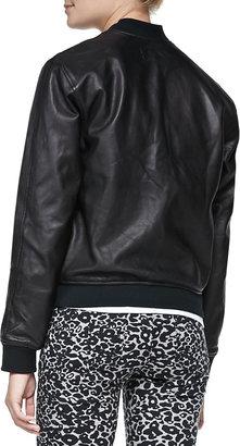 Rag and Bone Leather Zip-Front Jacket