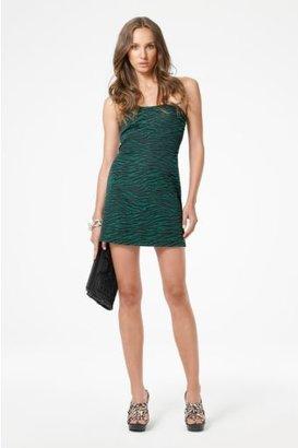 Diane von Furstenberg Vicenda Dress in Emerald & Black