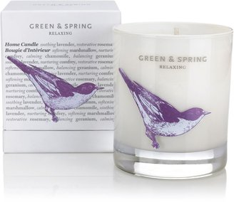 House of Fraser Green and spring Relaxing Home Candle 235g