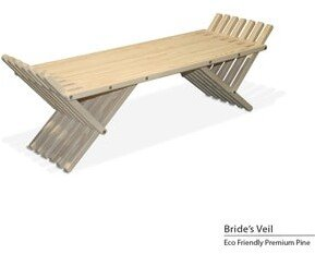 GloDea French Bench X90, Solid Wood, Eco-Friendly