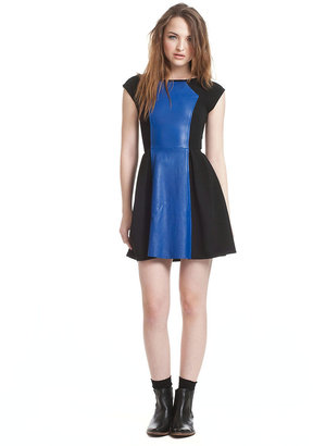 Plenty by Tracy Reese Leather Trimmed Colorblock Dress