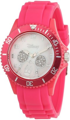 Disney Women's W000589 Mickey Mouse Pink Silicone Strap Watch