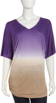 Young Fabulous & Broke Young Fabulous and Broke Ombre V-Neck Tee, Orchid