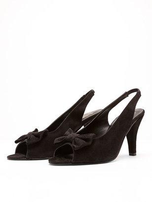 American Apparel Suede High Heel Bow Slingback