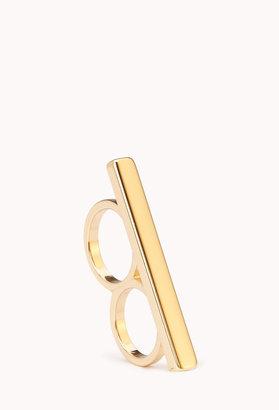 Forever 21 Sleek Bar Two-Finger Ring