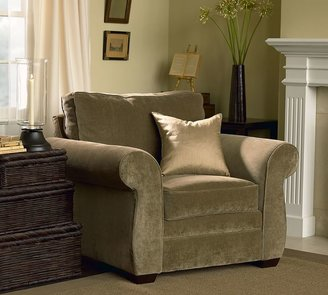 Pottery Barn Pearce Upholstered Armchair - Performance everydaysuede &