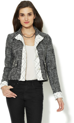 Steven Alan Contrast Trim Tweed Jacket