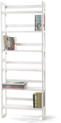 Container Store White Stackable Folding Bookshelf