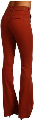 AG Adriano Goldschmied Goldie High Rise Trouser Twill (Brick Red) - Apparel