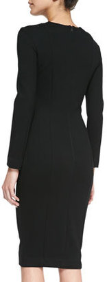 French Connection Marie Filigree Embroidered Cutout Dress, Black